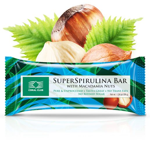 Батончик «СуперСпирулина Бар с орехом макадамии»